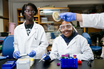 Science students Ramella Suber and Ahmeda Turay participated in the 2021 Summer STARS program.