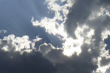 Clouds, sky, sunrays